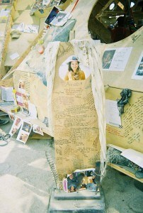 Annais's memorial at Burning Man (photo submitted by Julia Fogelson)