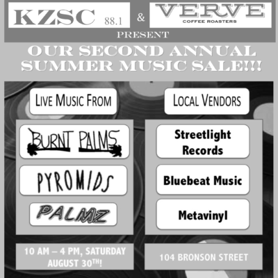 Record Sale Flyer