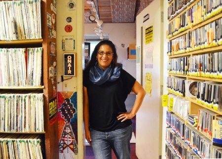 Sylvanna Falcon At KZSC, Photo By Melissa De Witte, UCSC