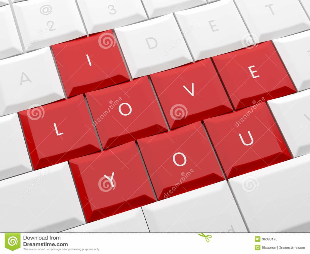 valentines day card computer keyboard letters love 36383176 1